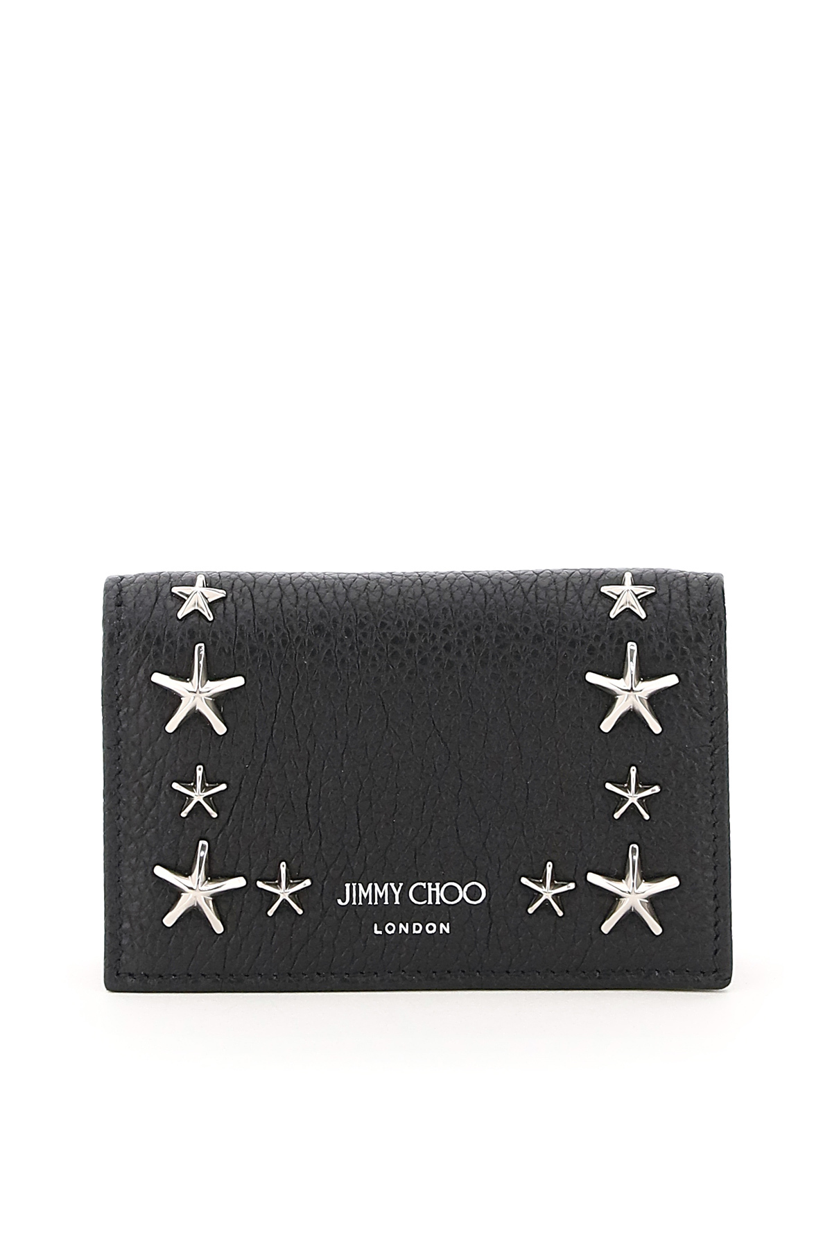 Jimmy choo porta carte di credito star studs multitasche