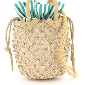 Lenine basket bag s2-00033 crystal stripe nina small