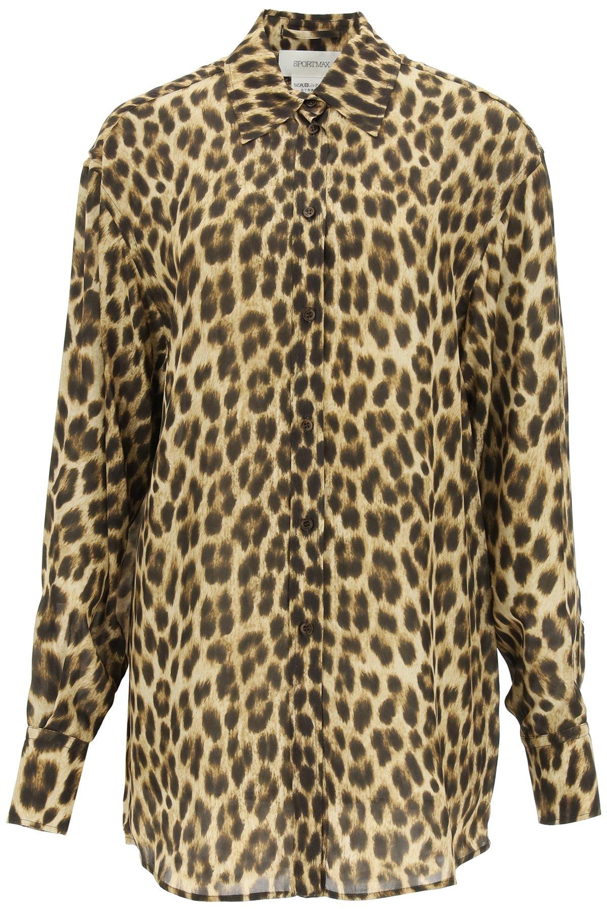 Sportmax camicia stampa leopardo