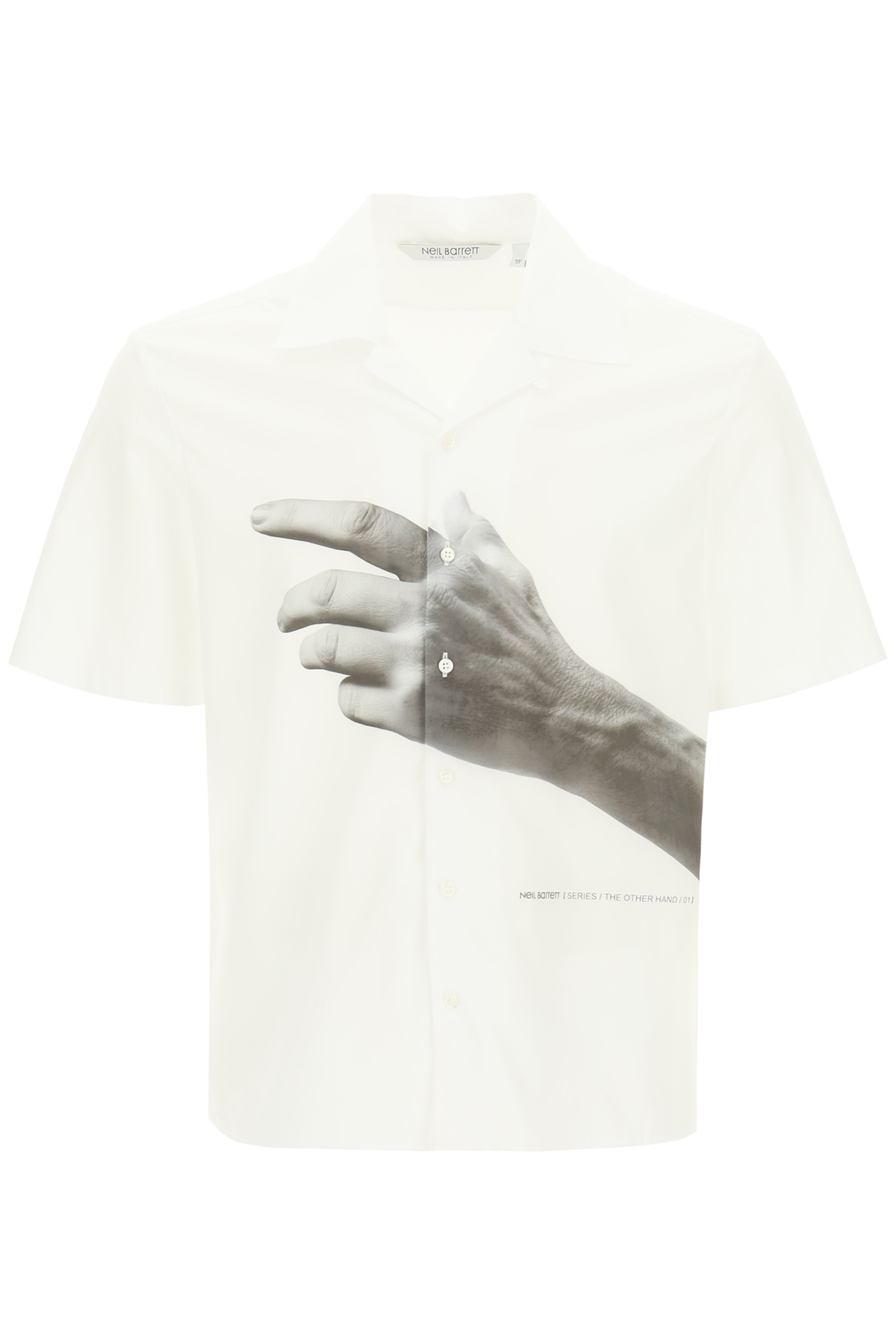Neil barrett camicia stampa the other hand