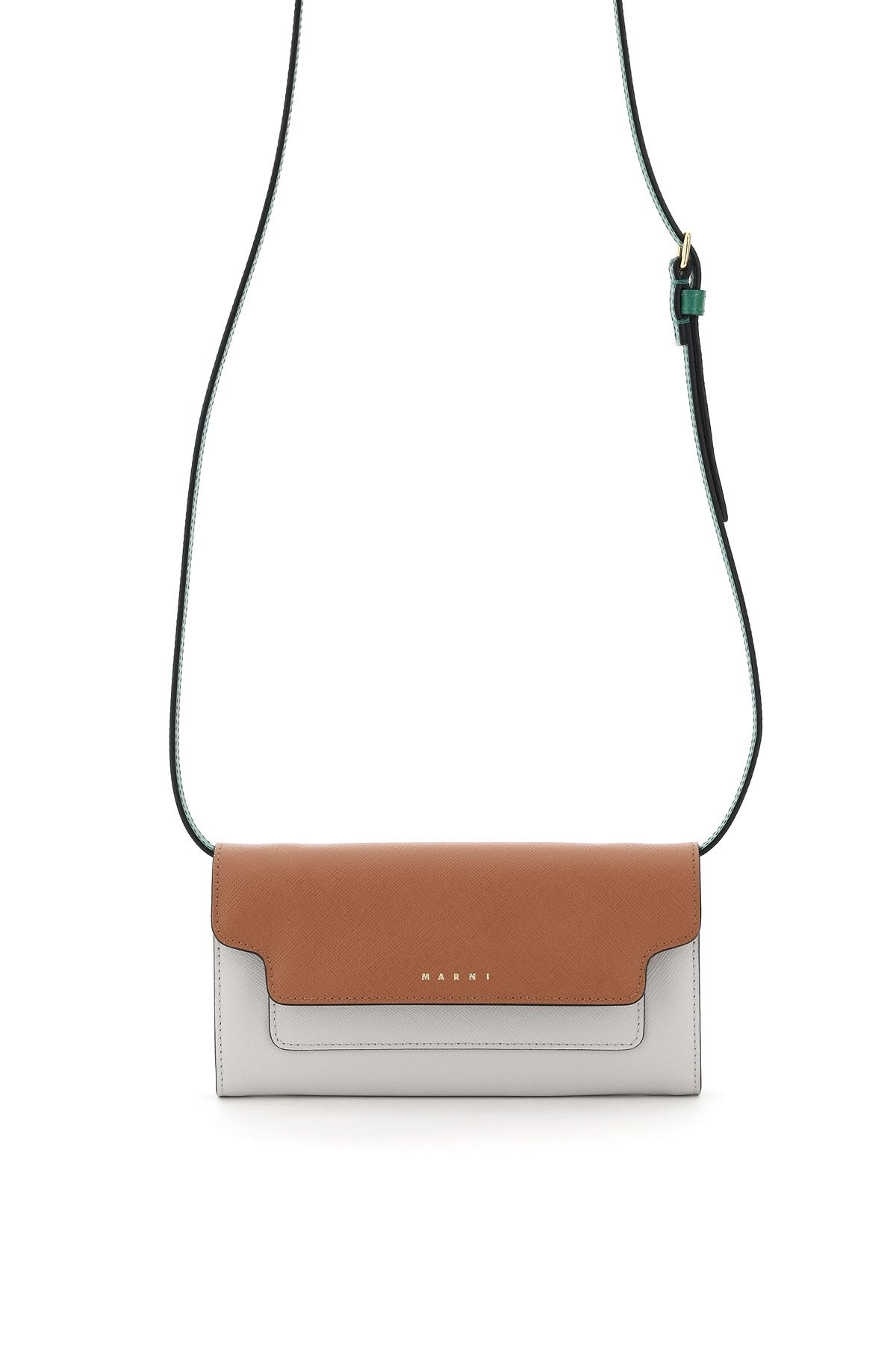 Marni mini bag portafoglio multicolor con tracolla