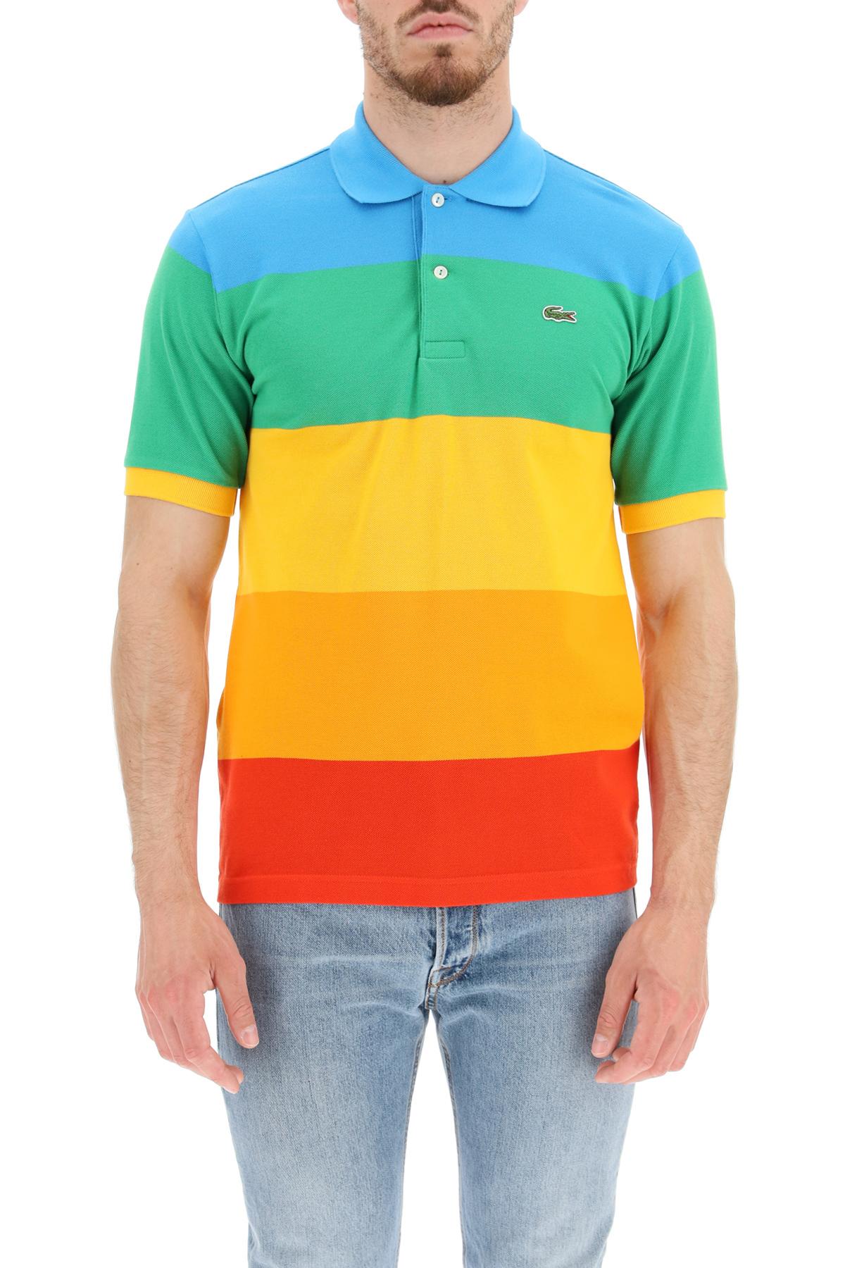 Lacoste x polaroid polo rainbow lacoste x polaroid