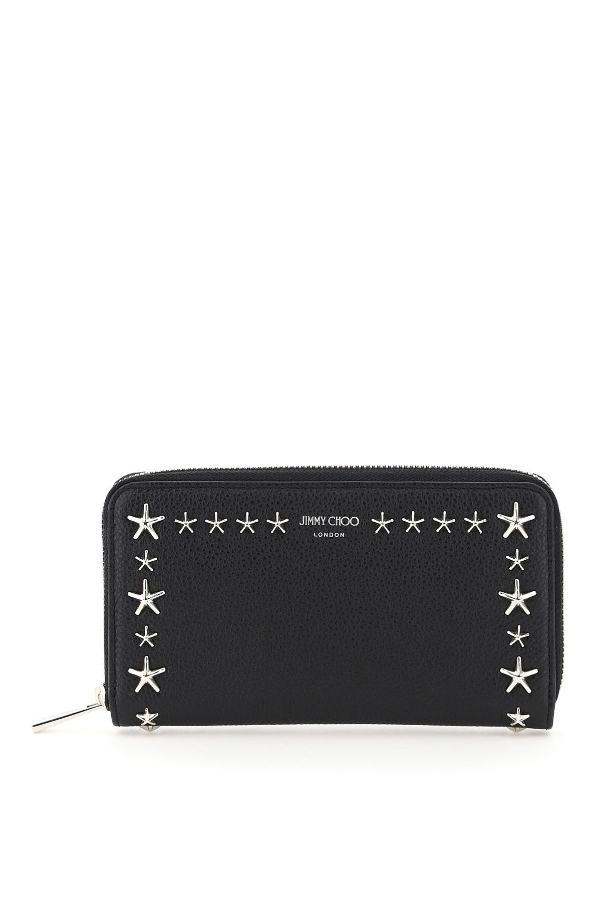 Jimmy choo portafoglio zip around con borchie a stella