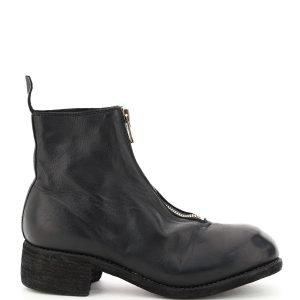 Guidi stivaletti alla caviglia in pelle front zip
