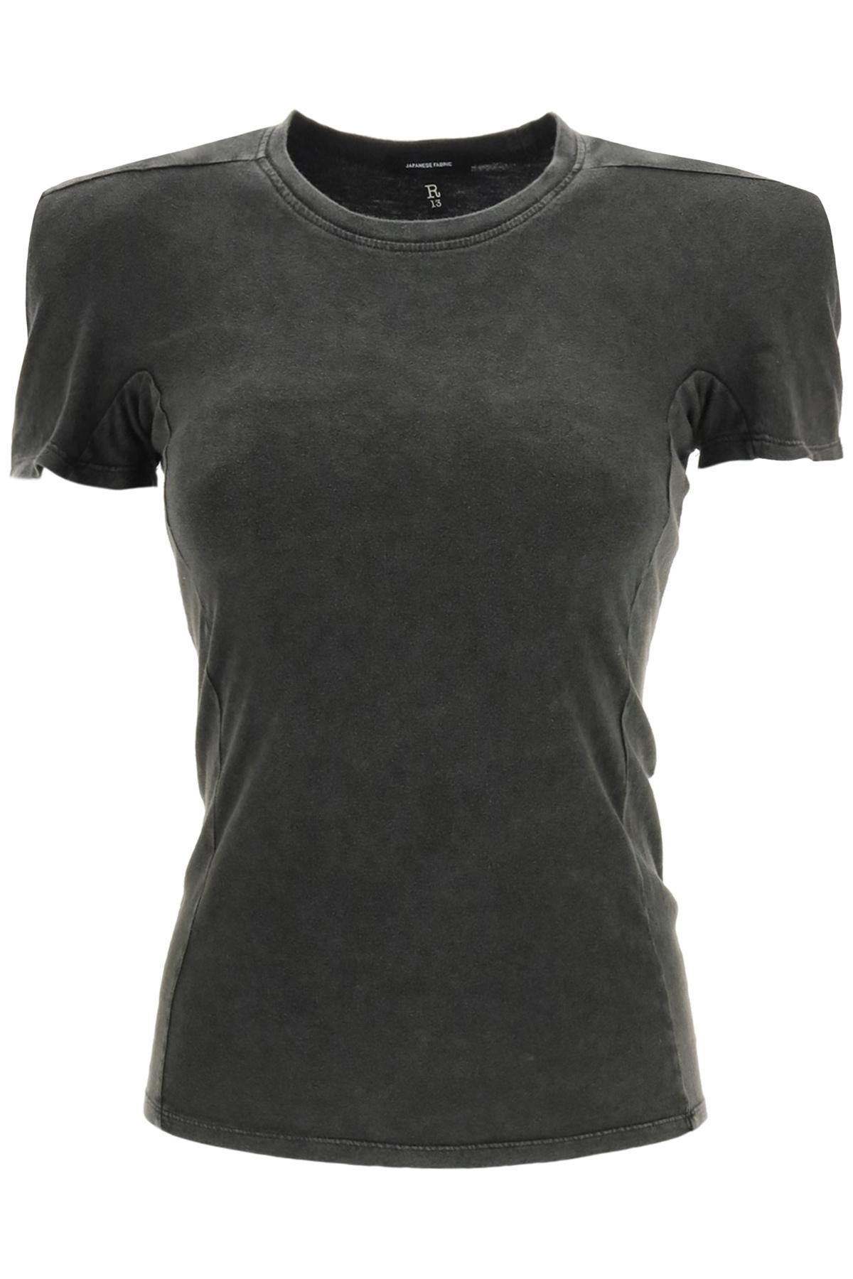 R13 t-shirt con spalla imbottita
