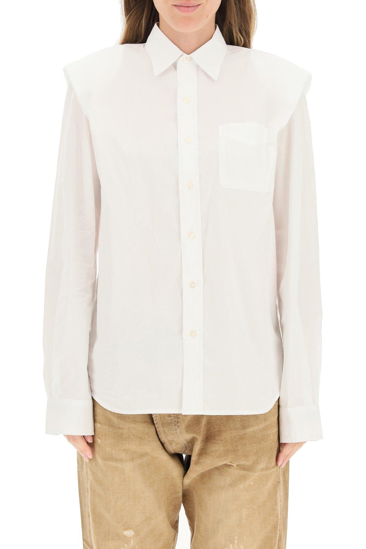 R13 camicia con spalla imbottita e piegata