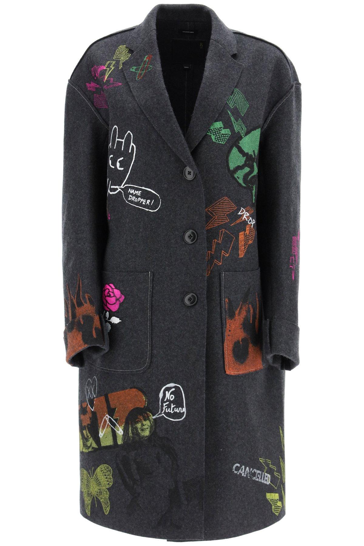 R13 cappotto graffiti