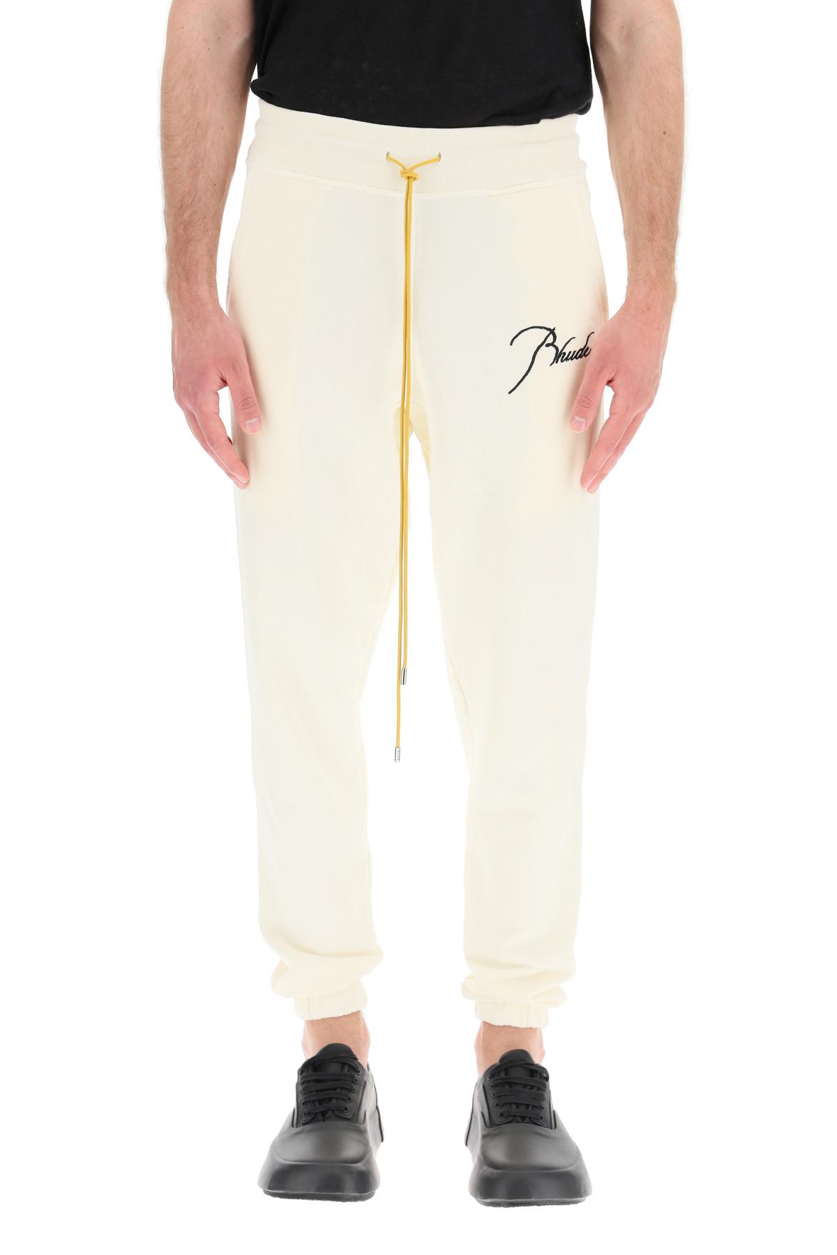 Rhude pantaloni jogger lounge rhude script