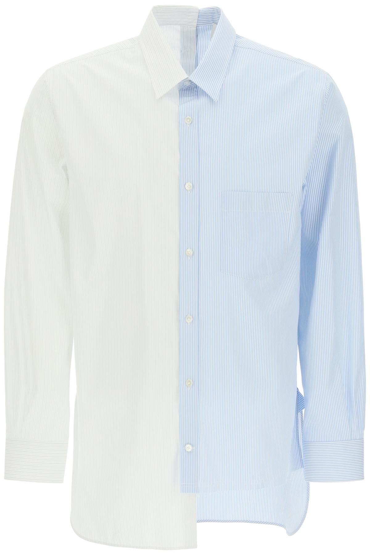 Lanvin camicia patchwork asimmetrica