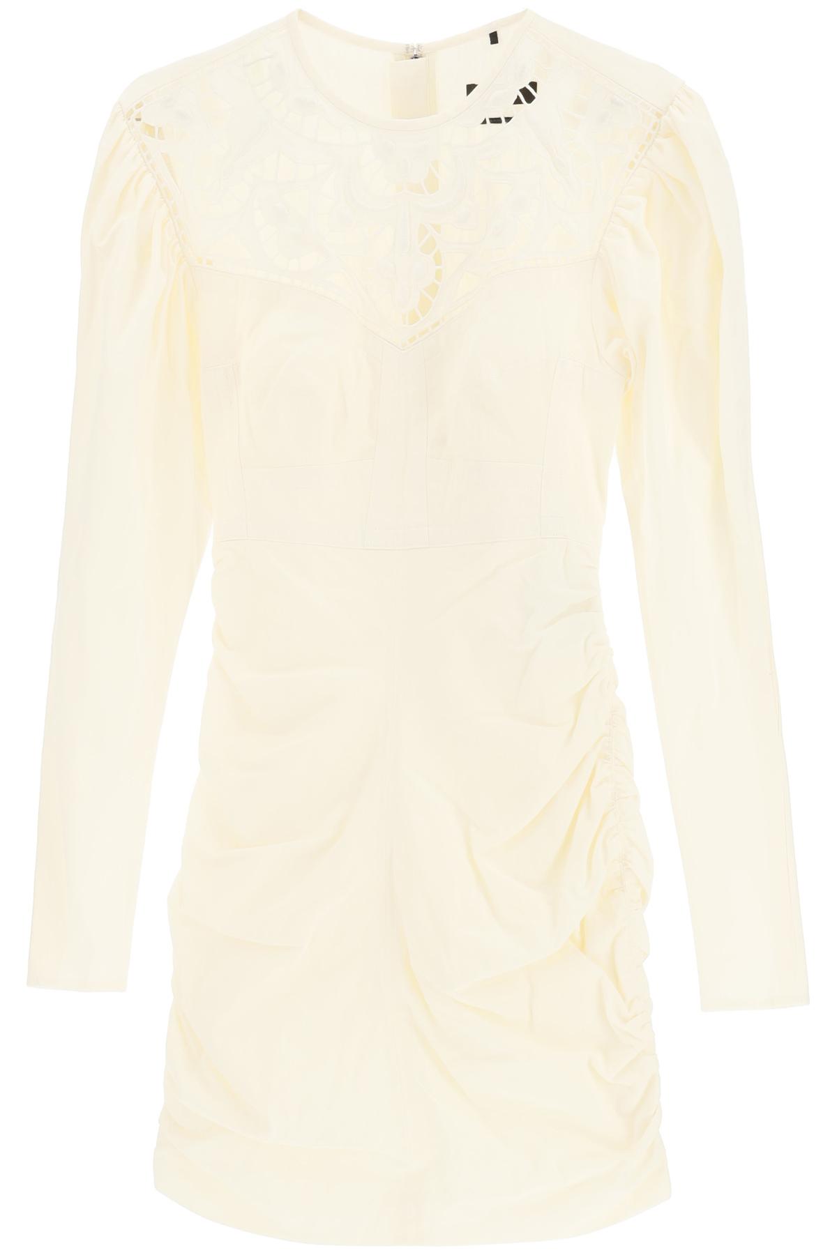 Isabel marant miniabito robe taydo con ricamo