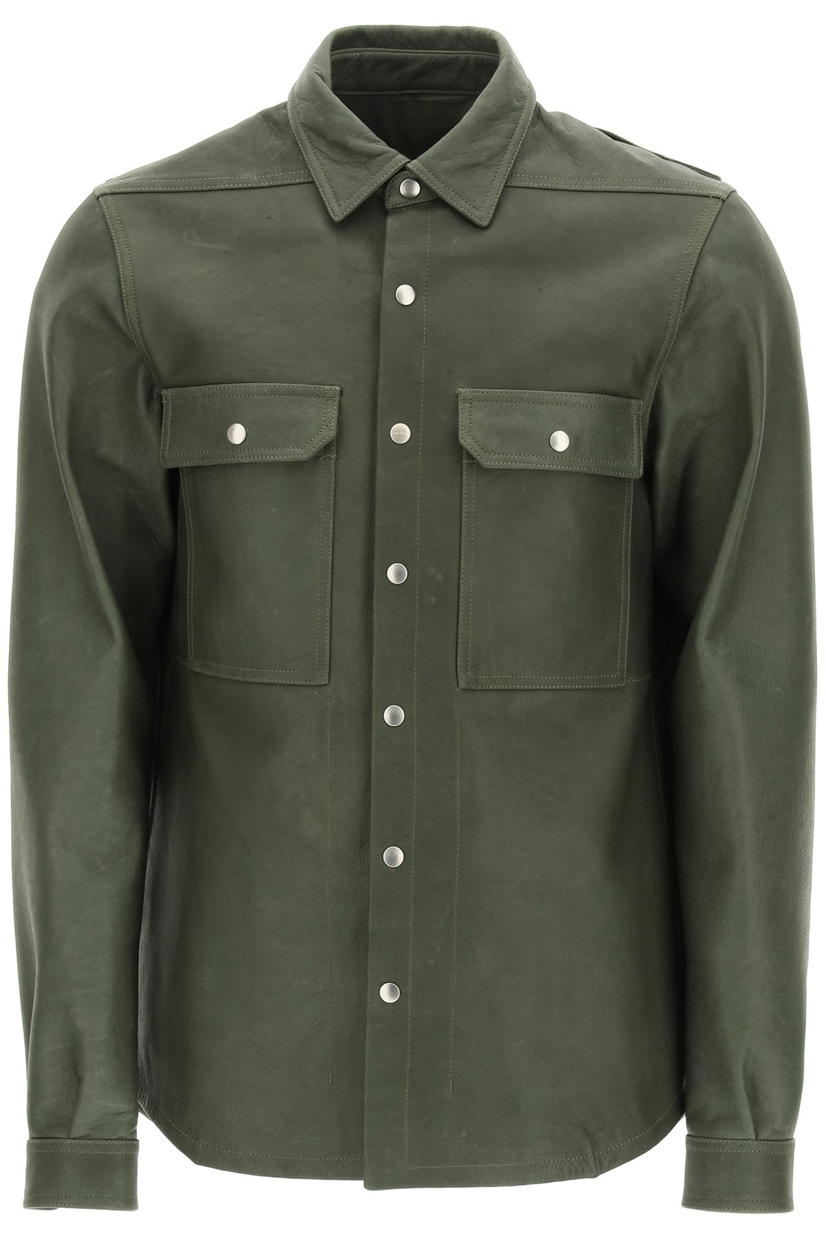 Rick owens giacca in pelle gethsemane