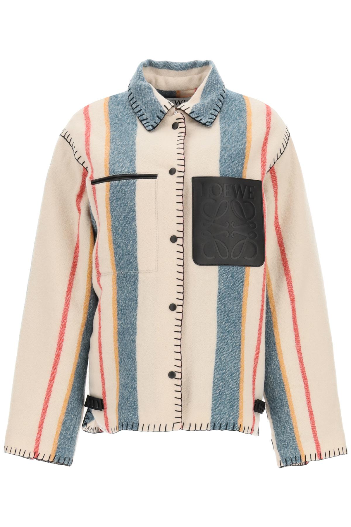 Loewe giacca in lana a righe