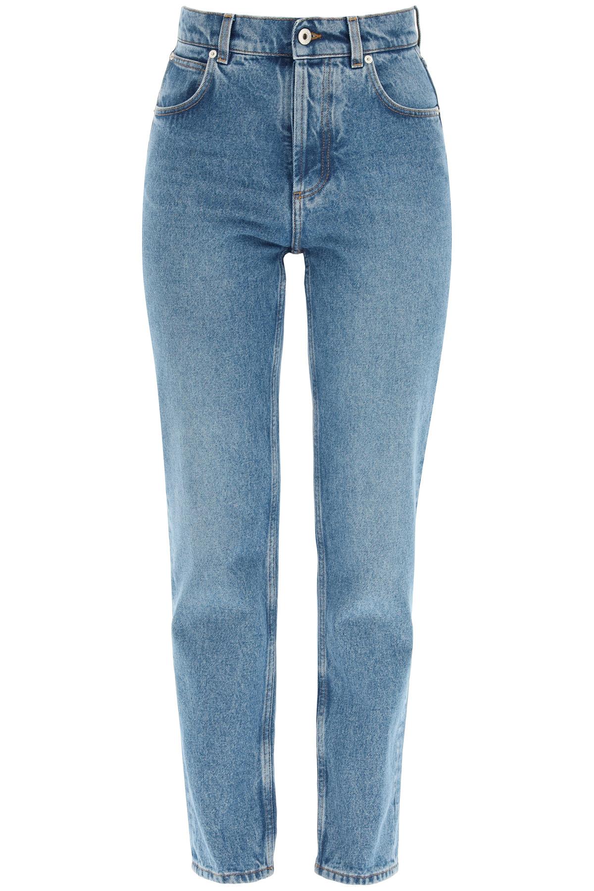 Loewe jeans con tasca in pelle anagram