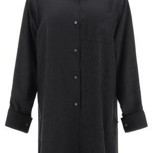 Loewe camicia in seta jacquard anagram