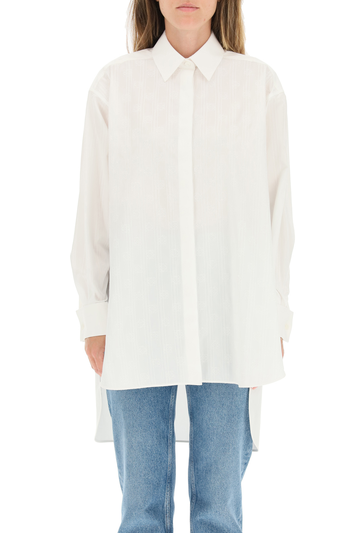 Loewe camicia over a righe anagram