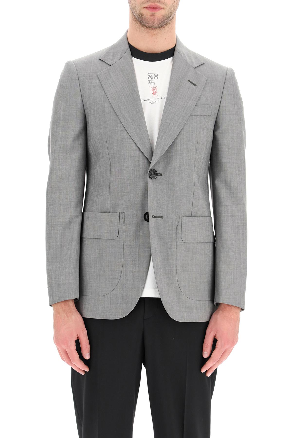 Maison margiela giacca classica lana mohair