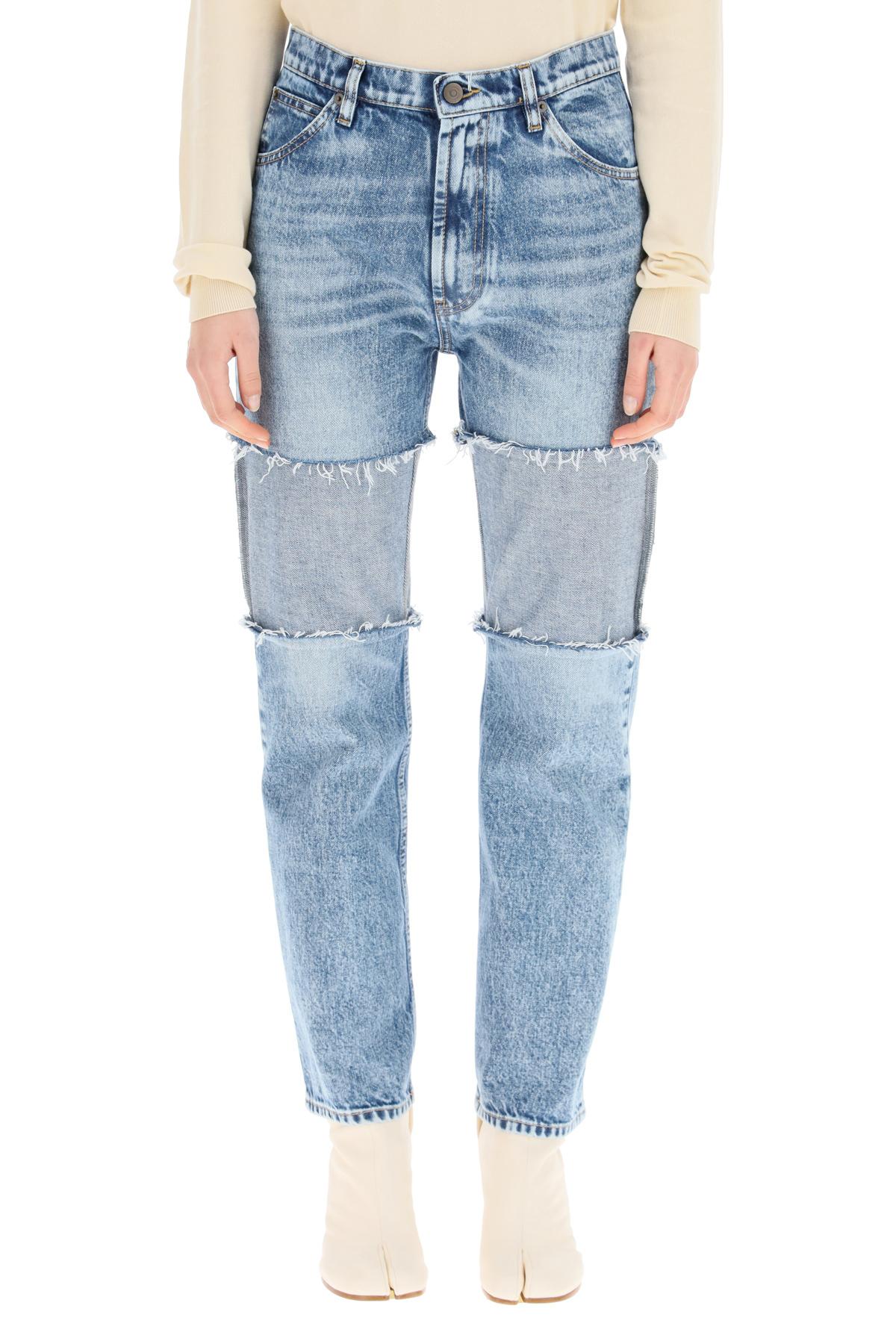 Maison margiela jeans spliced in denim