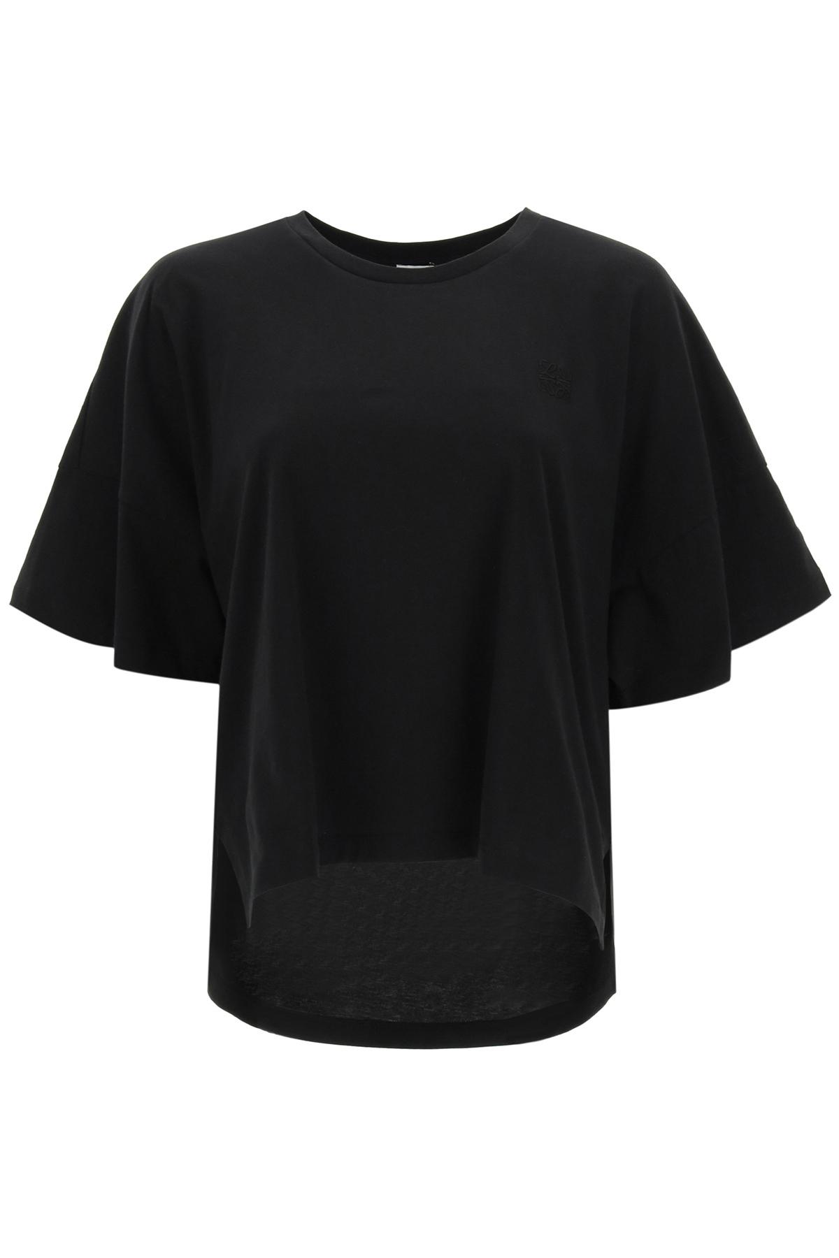 Loewe t-shirt oversize ricamo anagram