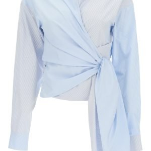 Loewe camicia asimmetrica a righe
