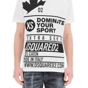 Dsquared2 t-shirt stampa logo extra sexy