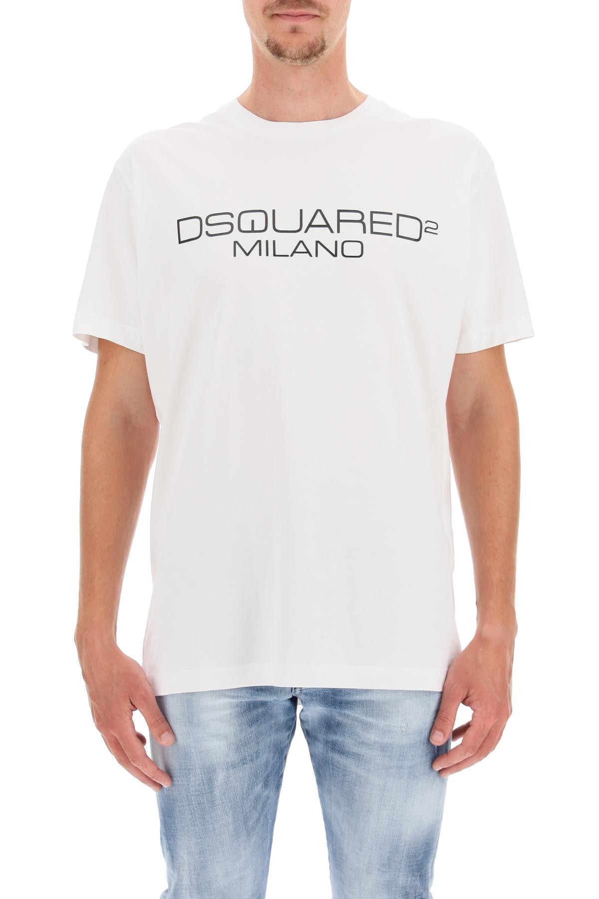 Dsquared2 t-shirt stampa logo milano