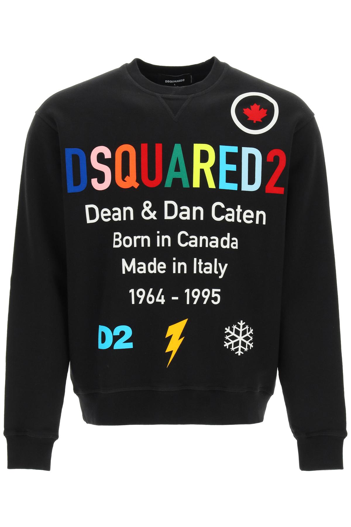 Dsquared2 felpa con logo multicolor
