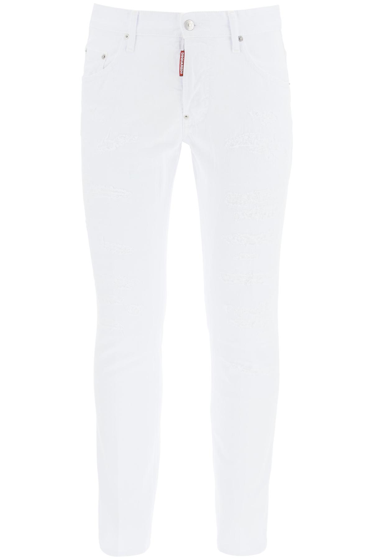 Dsquared2 jeans skater white bull