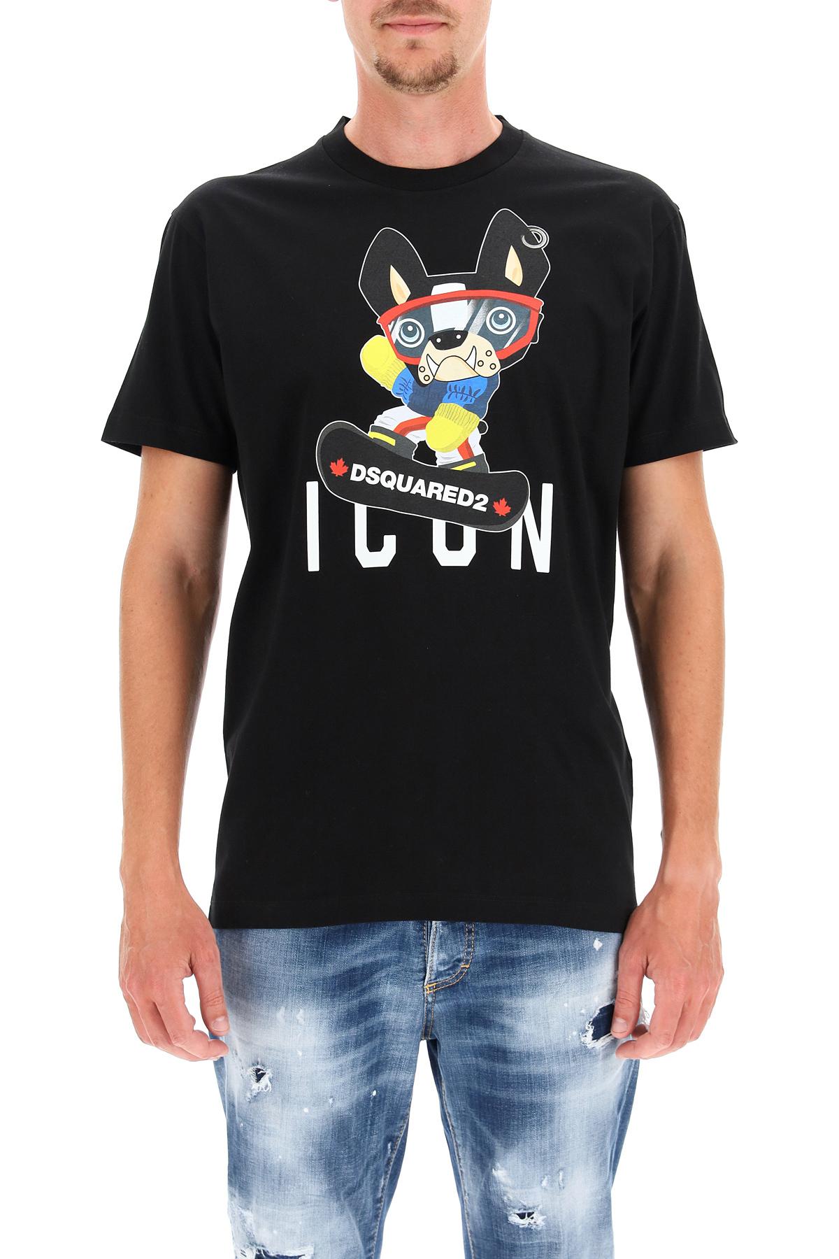 Dsquared2 t-shirt stampa icon ciro