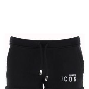 Dsquared2 short in jersey con stampa icon rifrangente