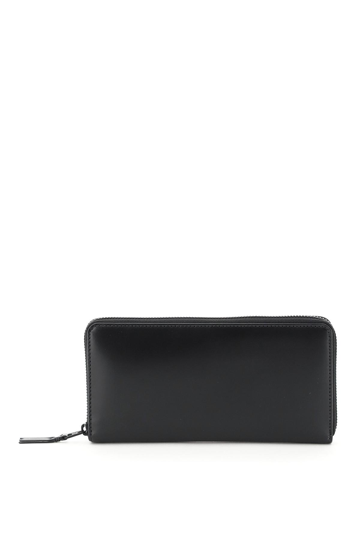 Comme des garcons wallet portafoglio zip around very black