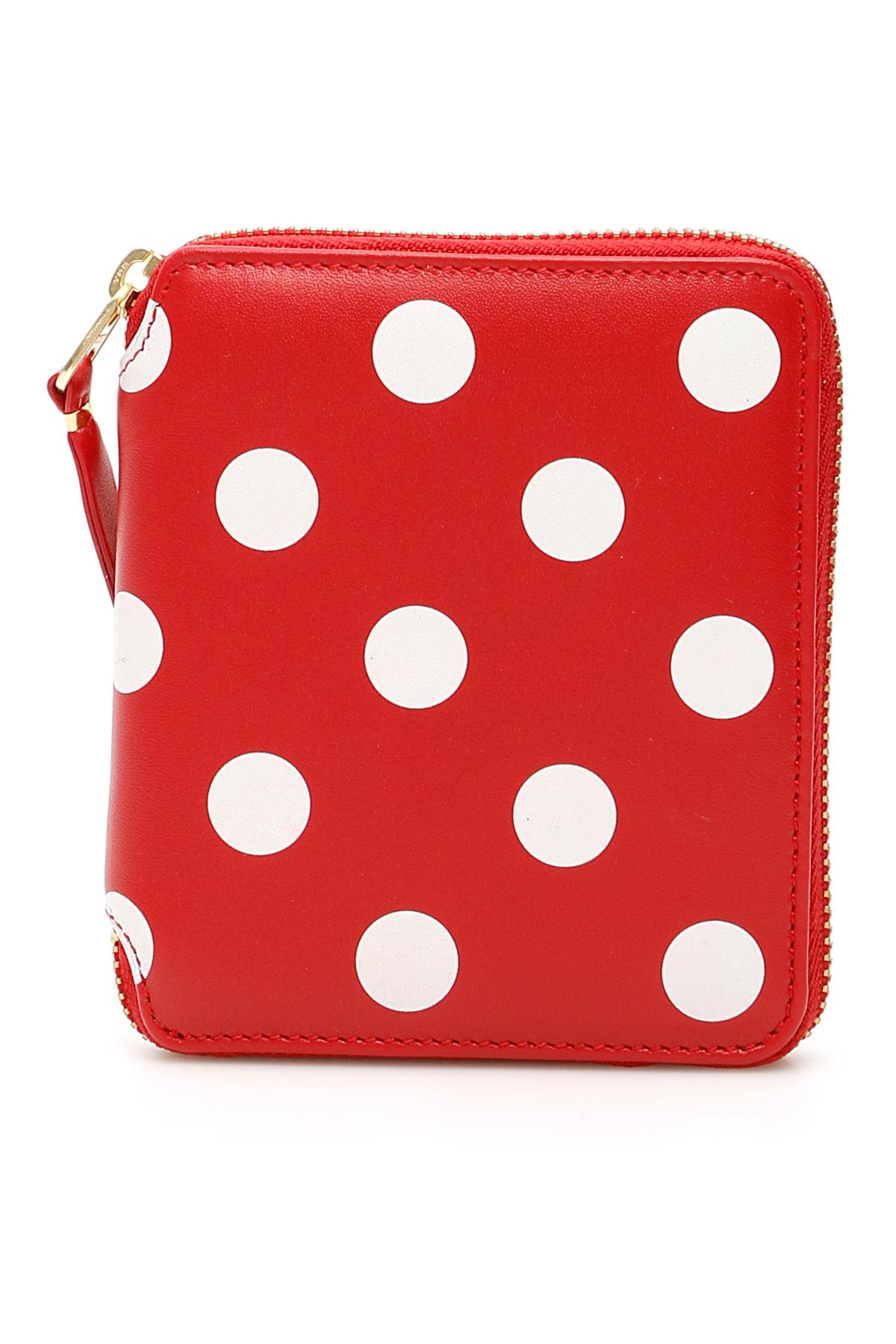 Comme des garcons wallet portafoglio zip around polka dots