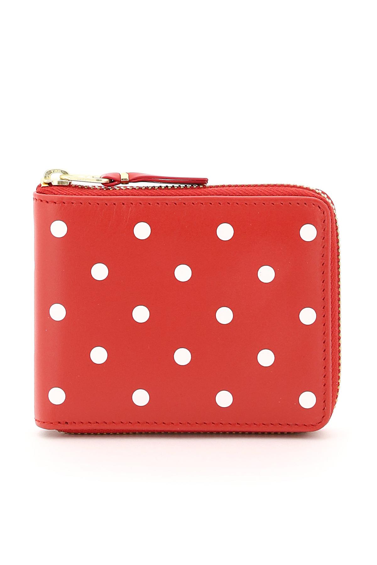 Comme des garcons wallet portafoglio polka dots