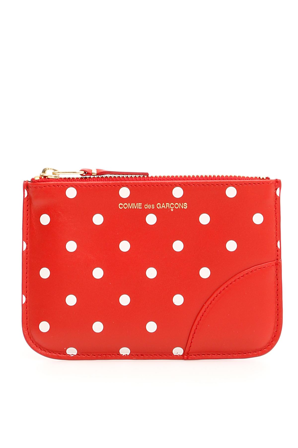 Comme des garcons wallet pouch polka dots