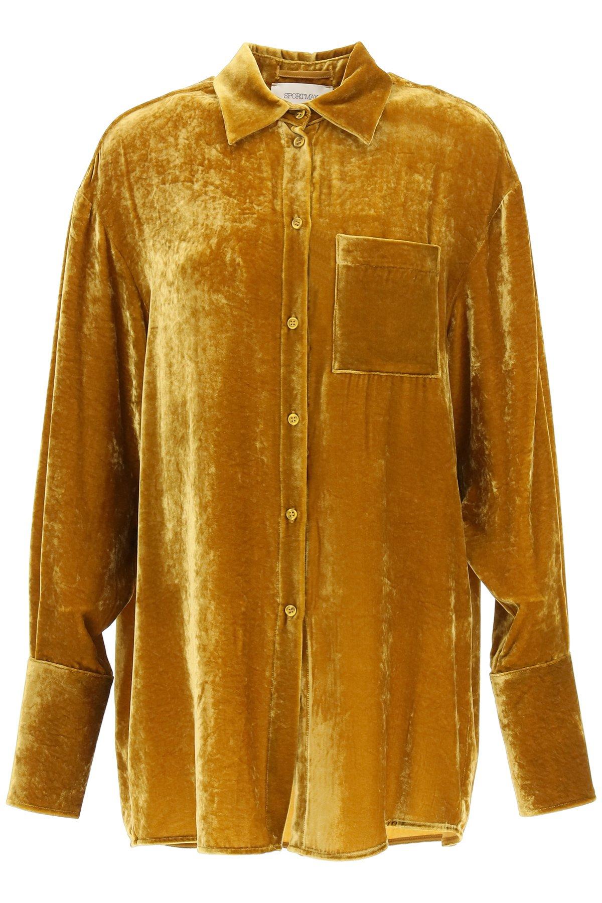 Sportmax camicia sapri in velluto liscio