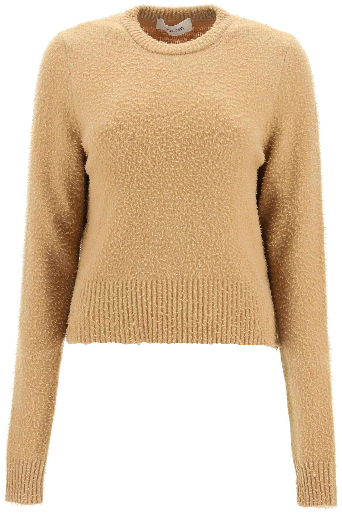 Sportmax maglia spiga in lana e angora