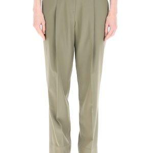 Low classic pantaloni con fondo in organza