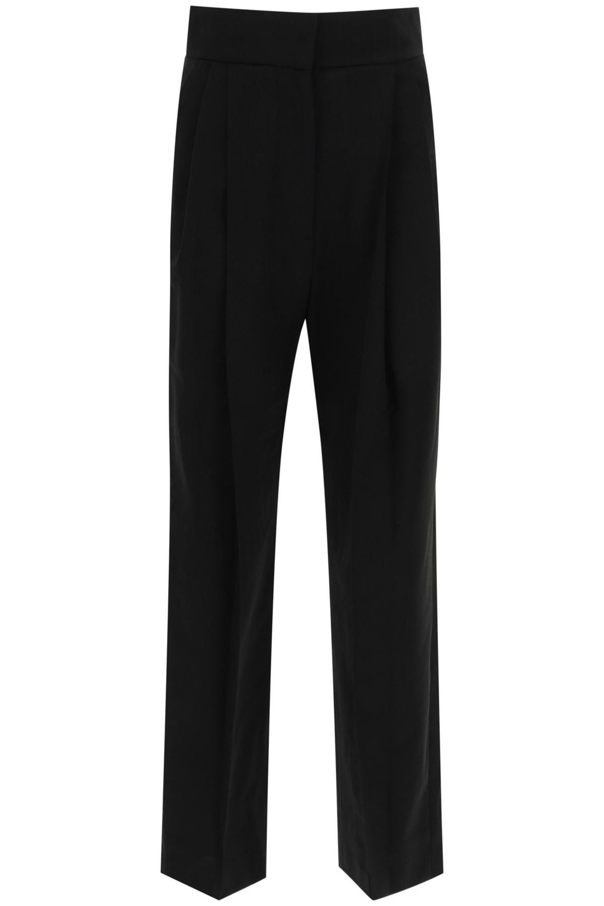 Low classic pantaloni pintuck con pinces