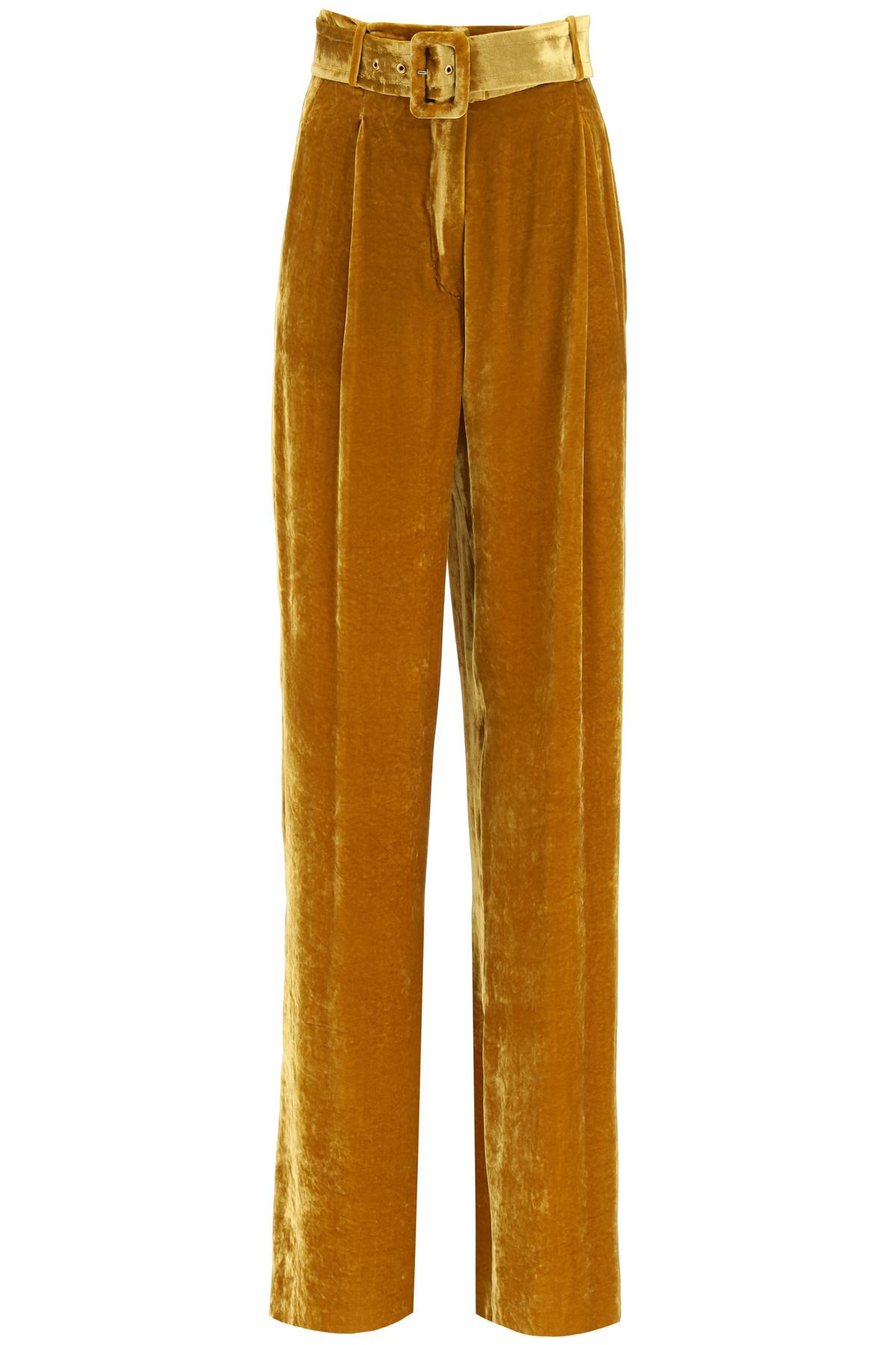 Sportmax pantalone uta in velluto liscio