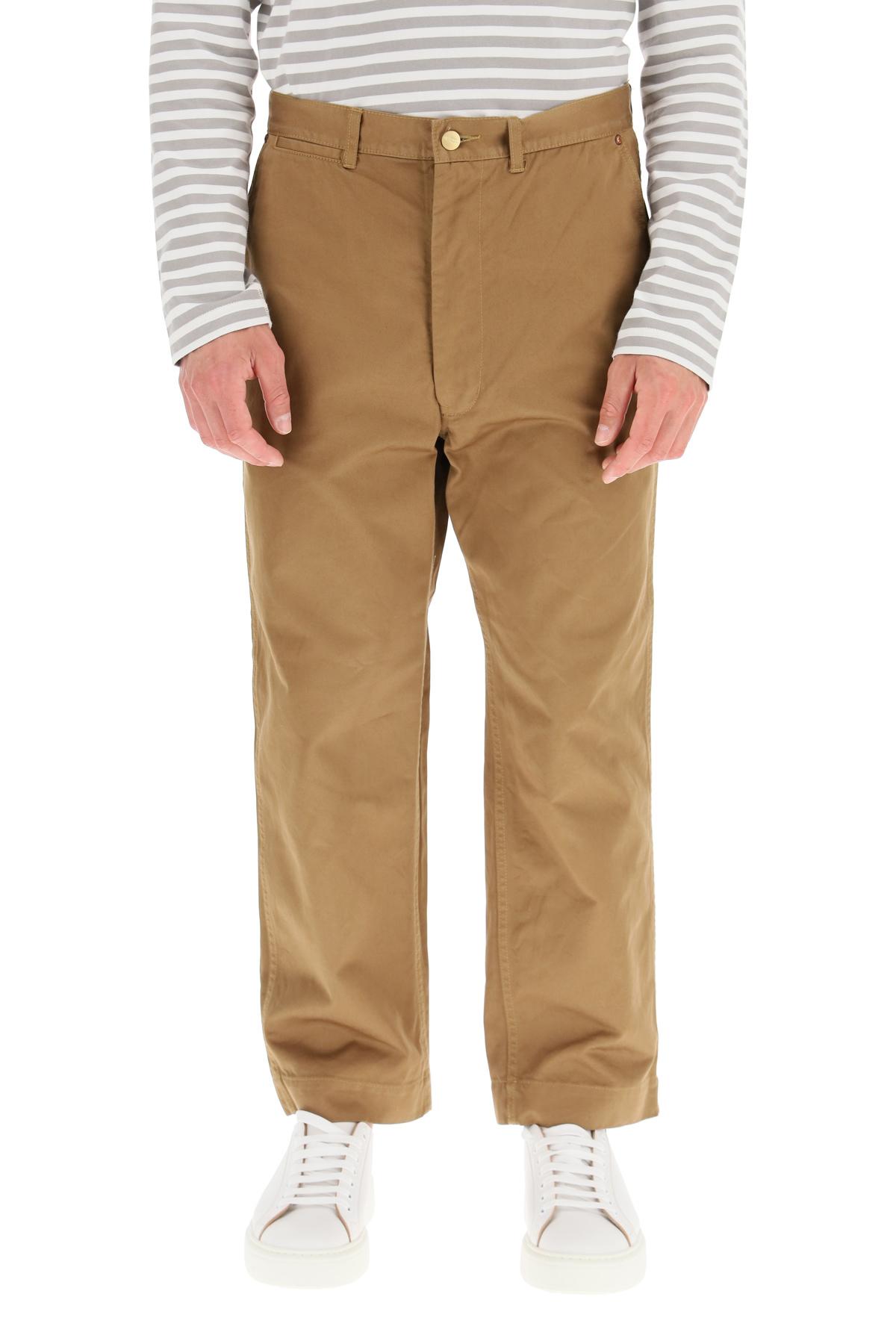 Junya watanabe pantaloni crop junya watanabe carhartt