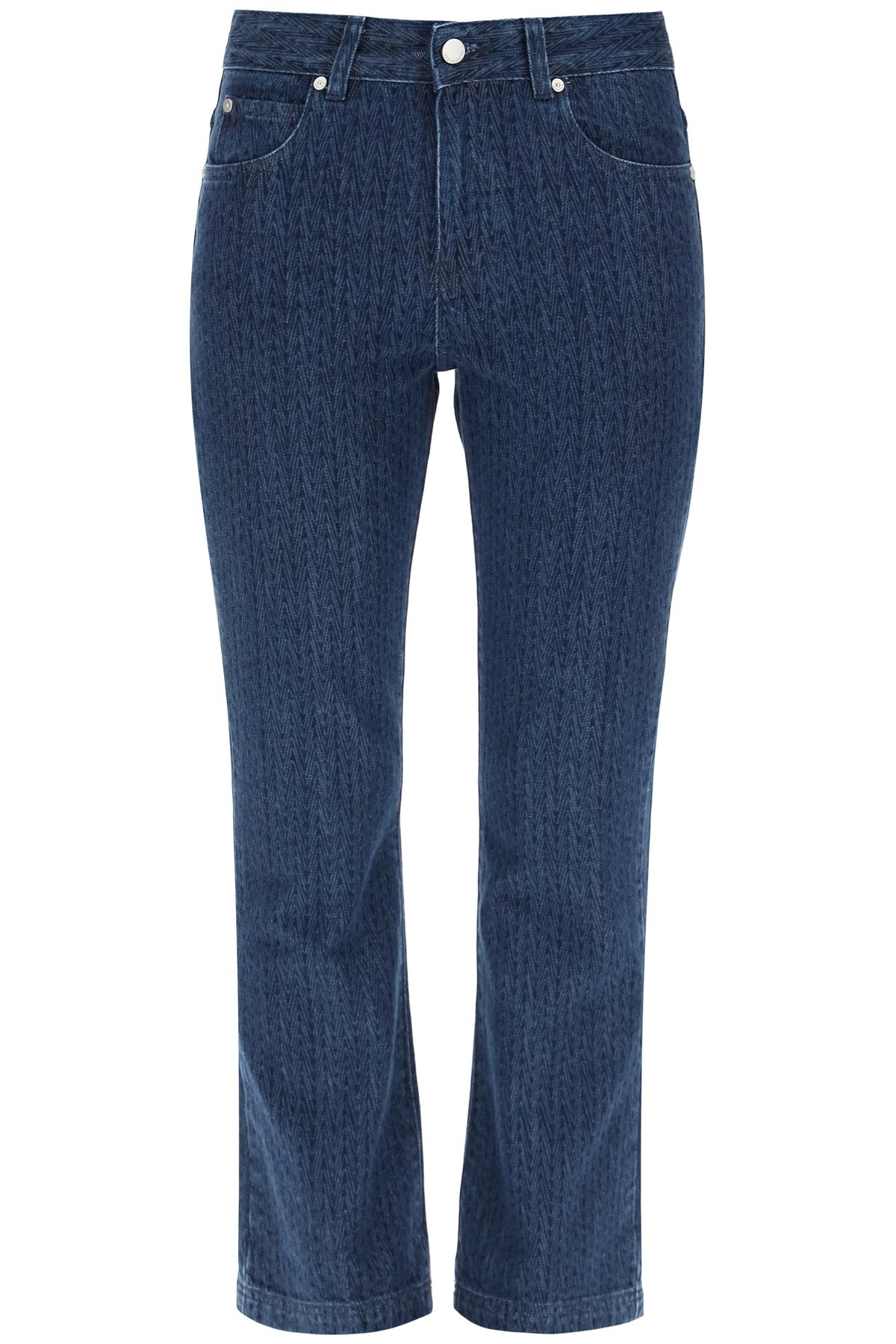 Red valentino jeans cropped stampa laser