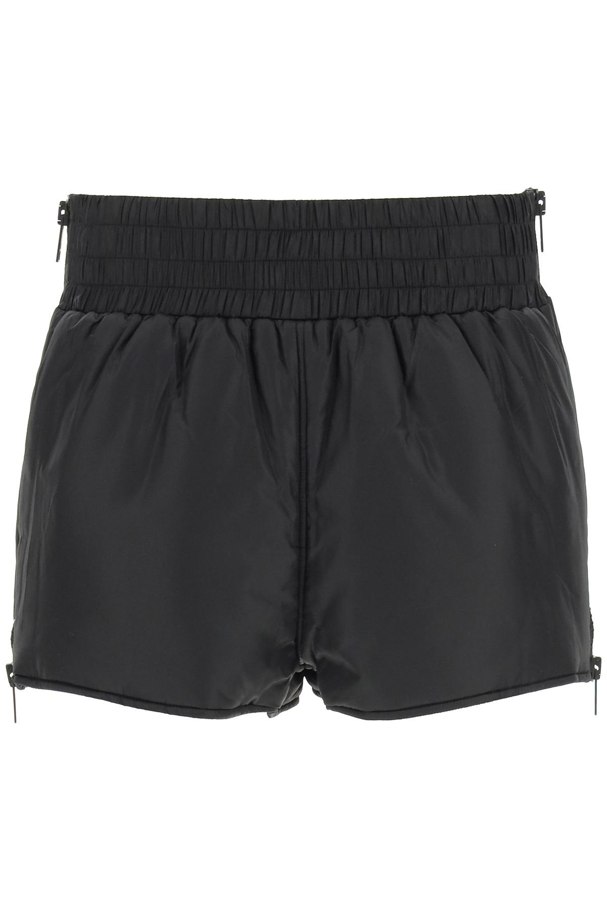 Red valentino shorts in nylon
