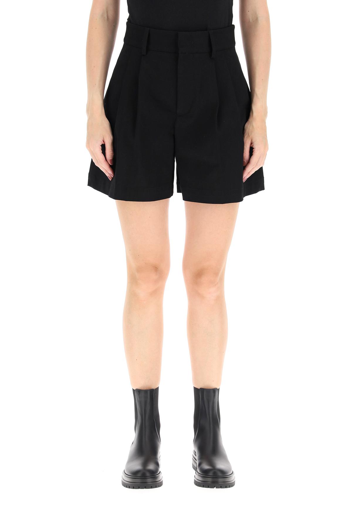 Red valentino shorts in popeline di cotone