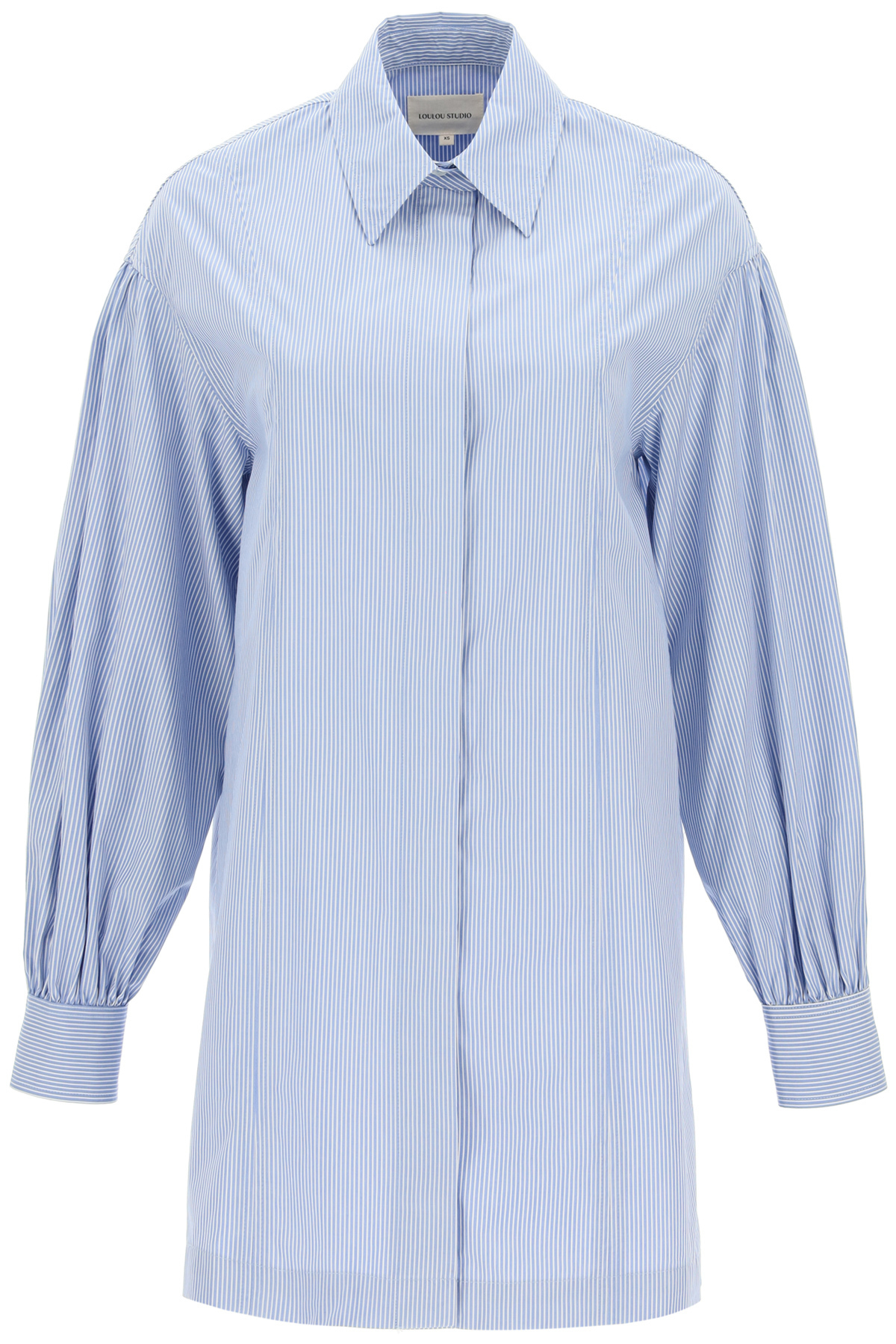 Loulou studio abito camicia zena a righe